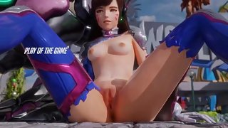 Play of the Game (D.va striptease)