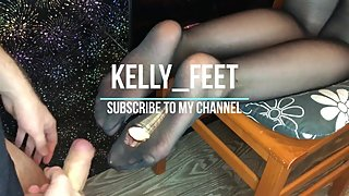 kelly_feet fast fuck teen black nylon stockings foot fetish