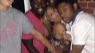 Sexy Teen Cheats On Boyfriend With Multiple Black Guys