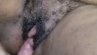 Fat clit ebony rubs thick hard cock On pussy