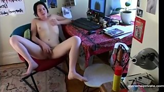 Spying loud masturbation of my stepsister