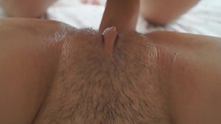 Close up squirting girlfriend, fucked and cumshot