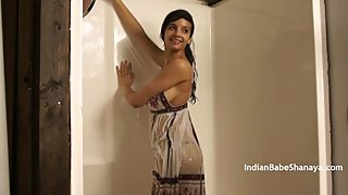 British Indian College Teen Shanaya Getting Wet On Her Audition