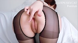 Your asian slut getting horny by her valentine's gift