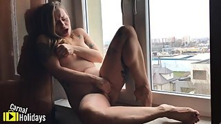 Fucking Myself On The Window Sill - Solo Aimee CarnalHolidays
