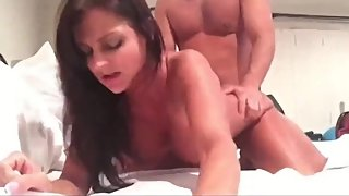 Naughty amateur babe gets her tight pussy filled up with cum