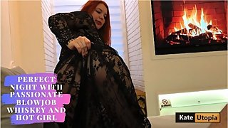 Perfect Night With Passionate Blowjob whiskey and Hot GIrl