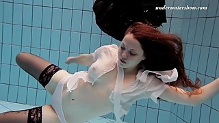 Salaka Ribkina teenie naked in the pool