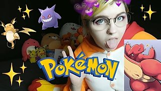 NERDY GIRL BABE SHOWS OFF POKEMON COLLECTION IN BRA + PANTIES + memes