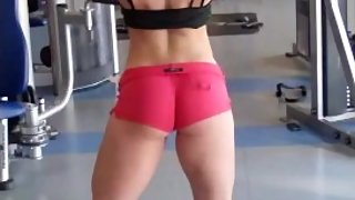 Young Fitness Girl Shows Off