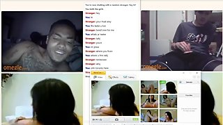 2 Hot Guys Jerk On Cam Hot Black TN Dude w Tatts and Great Smile Cums