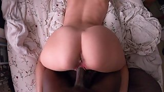 White College Teen Fucked By BBC (POV 4K)