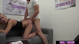 Blonde girl with horny doctor