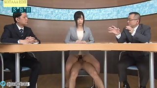 JAPANESE NEWS REPORTER GOT FUCKED ON SPOT AND SQUIRT ????????????