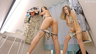 # 2 HIDDEN CAMERA IN THE WOMEN'S FITTING ROOM - DELUXEGIRL
