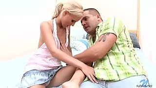 Stepbrother Fucks stepsister on the bed