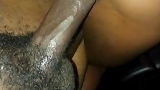 Babysitter riding dick in the backseat