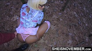 Risky Hangers Foreplay With My Ebony Step Daughter After Church Outside HD